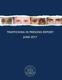 The cover of the 2017 Trafficking in Persons Report