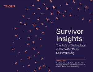 Thorn survivor insights cover of report